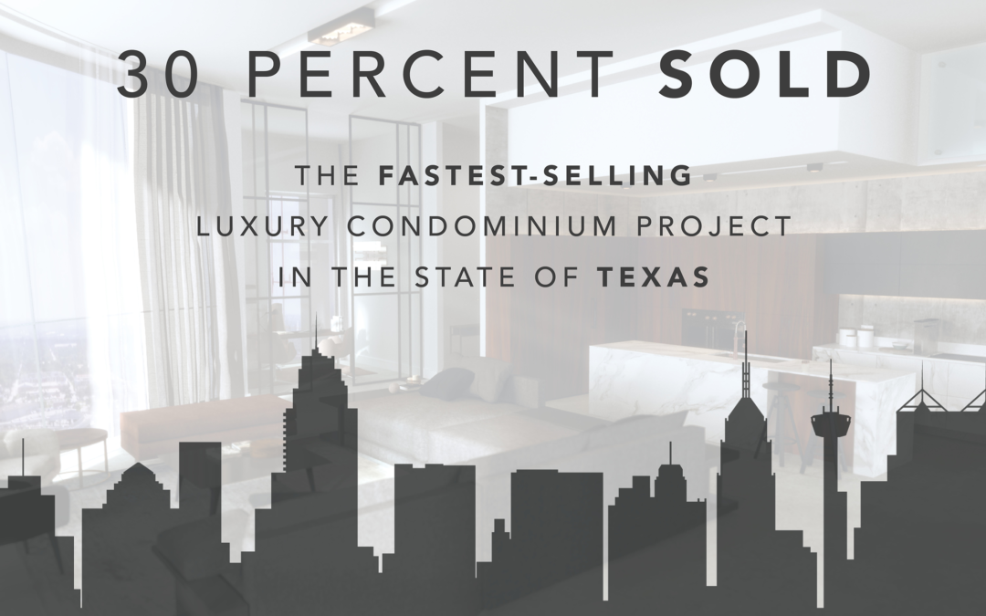 Announcing 30% Sold!